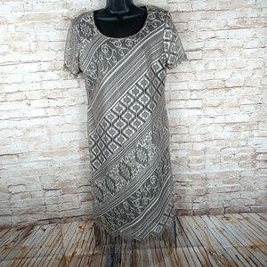 Studio C black bronze sheath dress 12